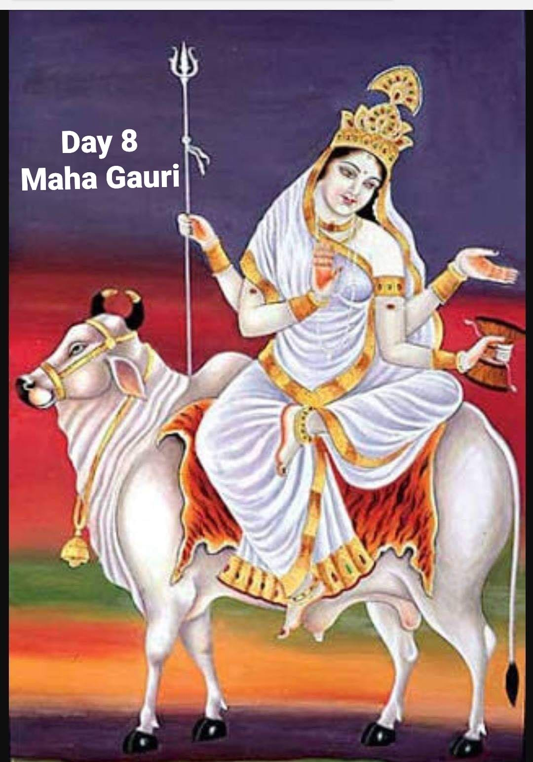 Navaratri Day 8 – Mahagauri Devi